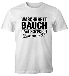 Lustiges-Herren-T-Shirt-Waschbrettbauch-hat-ich-schon-steht-mir-nicht-Fun-Shirt