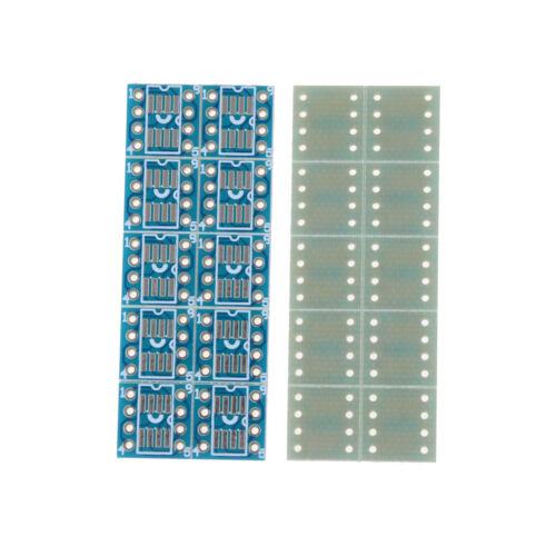 20pcs SOP8 SO8 SOIC8 TSSOP8 MSOP8 to DIP8 Adapter PCB DIY Conveter Board new TO