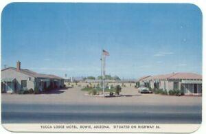 Bowie-AZ-Yucca-Lodge-Motel-Postcard-Arizona