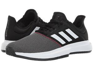 b64399615 Men Adidas Game Court Tennis Shoes CG6334 Black White Red 100 ...