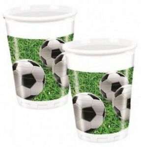 8-Bicchieri-Plastica-Campo-da-Calcio-Arredo-Festa-Compleanno-PS-04843