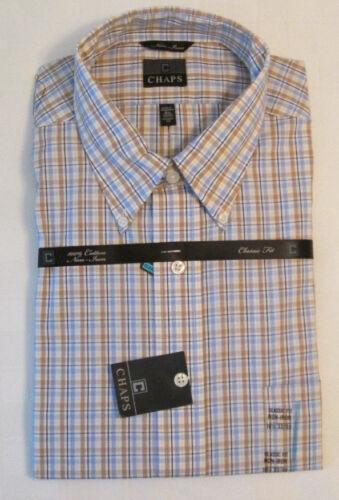 Chaps Classic Fit 100/% Cotton Non-Iron Men/'s Shirts NWT Assrtd colors//sizes