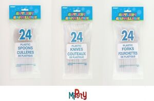 24-Plastic-Knives-Forks-and-Spoons-in-White-Baby-Kids-Adult-BBQ-Party