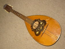 Big old german mandolin or mandola? needs service floral inlayed decorations