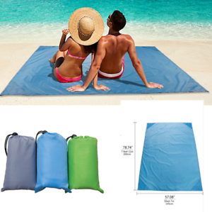 Outdoor-Pocket-Beach-Blanket-Waterproof-Ground-Cover-Sand-Proof-Picnic-Mat-Rug