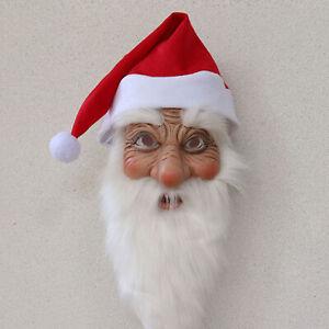 Navidad-Papa-Noel-Adulto-Disfraz-Disfraz-Mascarada-Fantasia-Mascarilla