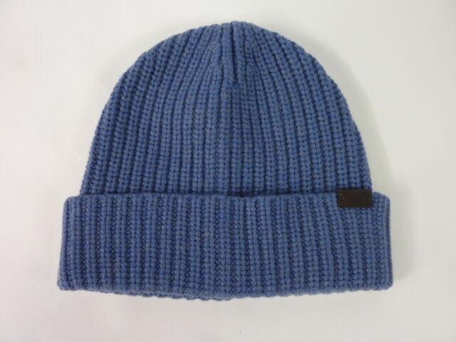 Buy Genuine Coach 100 Cashmere Solid Rib Knit Beanie Hat Light Blue 83148  online  8fc949746fa