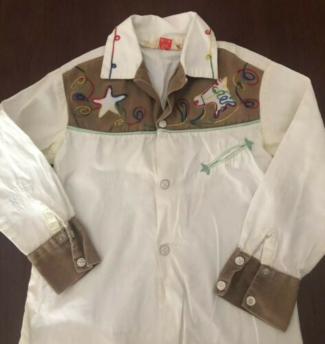 Roy Rogers J Bar T Vintage Western Shirt Kids, Rar