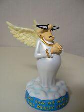 Westland HEAVENLY HUMOR - MY WIFE - Male Angel Fig #21354 White Gold Robe