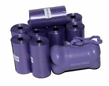 1020 Dog Pet Waste Poop Bags 51 Refill Rolls Purple FREE Dispenser Petoutside