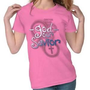 God-Our-Savior-Jesus-Christ-Christian-Religious-Lord-Gift-Womens-Tee-T-Shirts