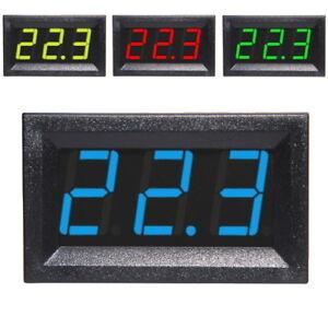 3-30V-DC-Voltmeter-LED-Display-Digital-Panel-Meter-Spannungsanzeige-Rot-Blau