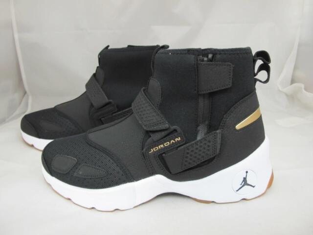 98fe8dd7a8 Nike Air Jordan Trunner LX High Aa1347-021 Black White Gold Gum Sole ...