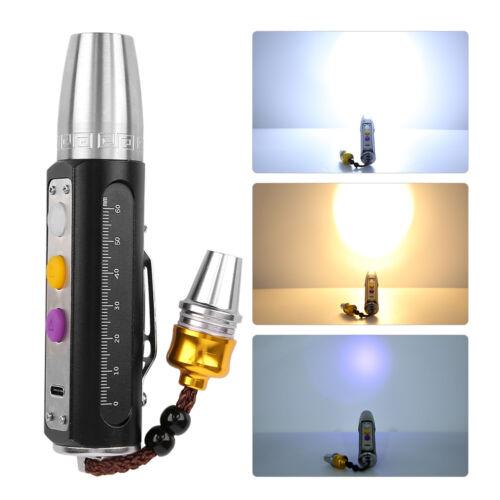 Mini White Yellow Purple Light LED Flashlight Torch for  Jewelry Amber Test