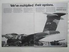 3/1977 PUB BOEING YC-14 COANDA EFFECT STOL USAF US ARMY HOWITZER ORIGINAL AD