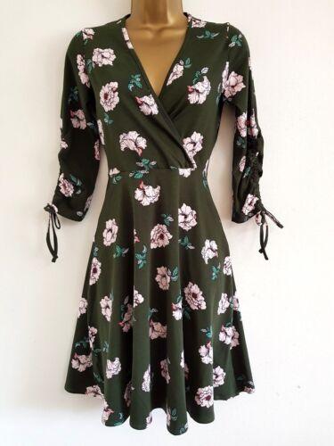 NEW EX DOROTHY PERKINS Super Cute Floral Fit /& Flare Mini Dress Sizes 10-18