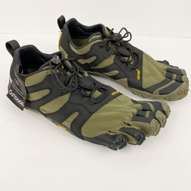 VIBRAM Fivefingers V-Trail 2.0 Black Ivy Green Shoes Women's 41 US 9-9.5