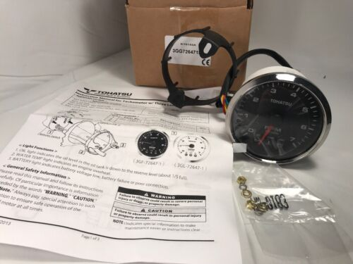Tohatsu Nissan OEM Outboard Motor Part Number 3GF726471M Tachometer NEW
