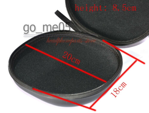 Black storage case For Audio Technica ATH-MSR 7 /& Red LTD MSR7 Headphones