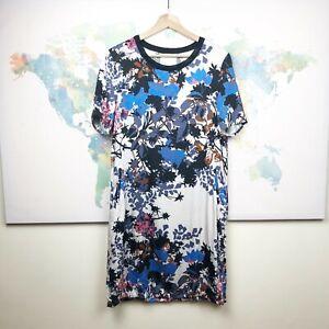 Part-Two-Copenhagen-Shift-Dress-Blue-Black-Floral-Short-Sleeves-Size-EU-36-US-6