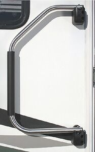 New Lend-a-hand Rv Rail stromberg Am-300 Painted Silver w//black foam grip