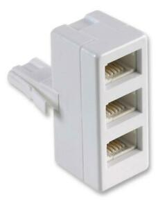 3 WAY TELEPHONE ADAPTOR, TELECOMMUNICATIONS EQUIPMENT ACCESSORIES FOR PIFCO
