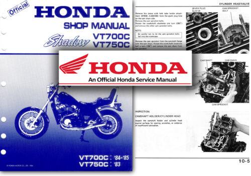 Honda VT750C VT700C Shadow Service Workshop Repair Manual VT 700 ...