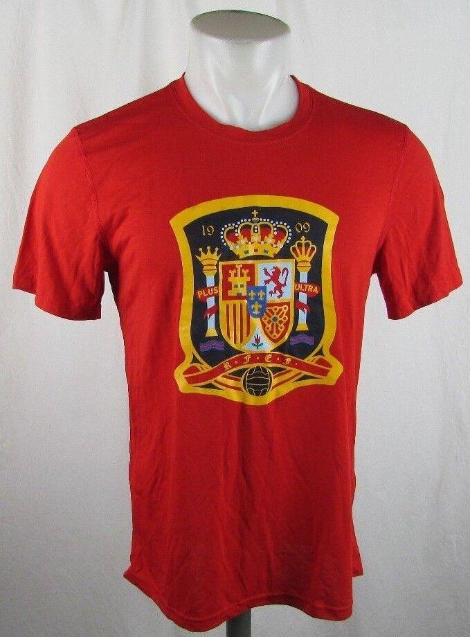 Spanien Fußball Trikot Männer M 2XL Adidas Climalite Ultimate T-Shirt Rot FIFA