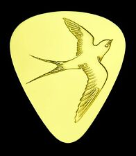 BARN SWALLOW - Solid Brass Guitar Pick, Acoustic, Electric, Bass