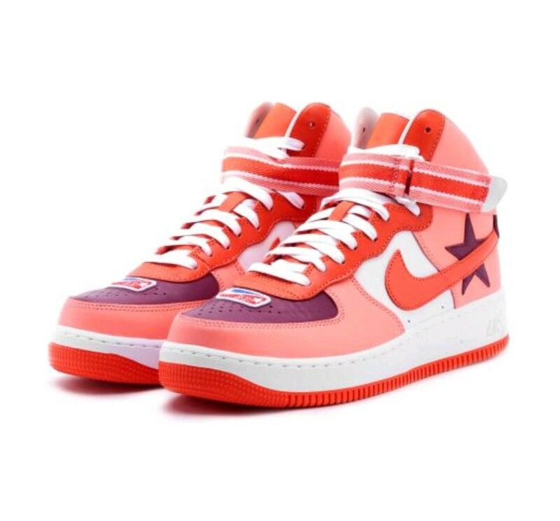 8 MEN'S Nike Air Force 1 Hi RT AQ3366 601 Tisci Red White Pink boot supreme AF1