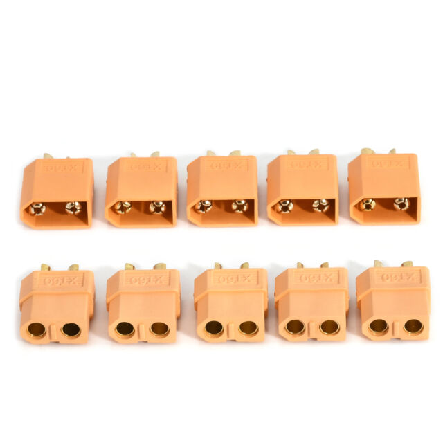 Lots 5 Pairs 10Pcs XT60 Male+ Female Bullet Connectors Plugs for RC Lipo Battery