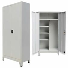 Magnificent Metal Storage Office Cabinet 2 Door Cupboard Wardrobe Home Interior And Landscaping Ologienasavecom