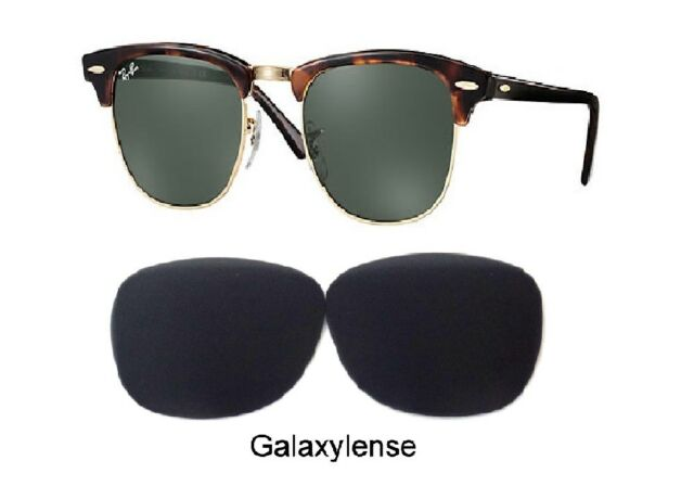 e8e556315f Galaxy Replacement Lenses For Ray Ban RB3016 Clubmaster Black 51mm  Sunglasses
