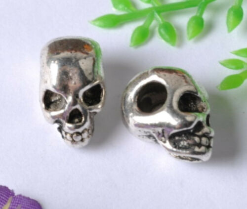FREE SHIP 20pcs Tibetan silver Death/'s-head bead  E40
