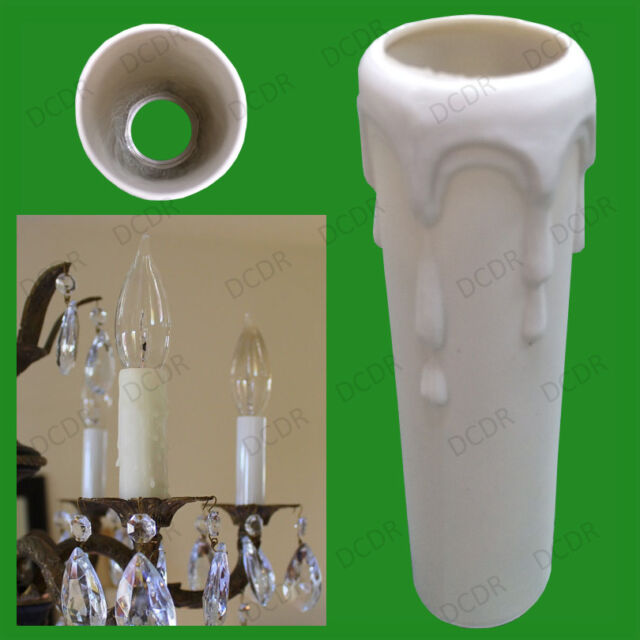 Drip Candle Sleeve Wax Effect Chandelier Light Bulb Lamp Cover 100mm x 23mm