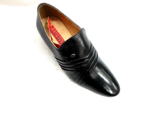 Lucini Formal Chaussures Talons De En Croix Noir Sur Hommes Cubains Cuir Slip Mariage rfFwdrzq