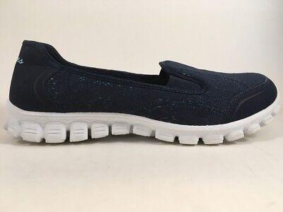 alumno Santo piel  Skechers EZ Flex 2 Slip-On Shoes Fashion Sneakers Women's 10 Navy Blue 22667  | eBay