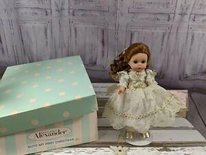 Madame-Alexander-34215-My-First-Christmas-Lenox-Ornament-Doll-w-Stand-Tag-RARE