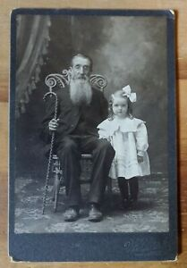 ANTIQUE-EARLY-1900-039-s-OHIO-AMERICAN-MAN-amp-GIRL-PHOTO-FURNITURE