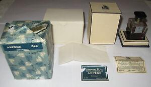 Vintage Jeanne Lanvin Perfume Bottle/Box Arpege Parfum 1 OZ Sealed - 1/3+ Full
