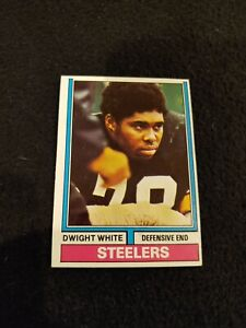1974 Topps Dwight white football card Pittsburgh Steelers #246 EX