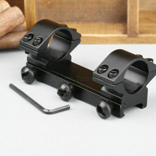 """1/"""" 25.4mm Dual Ring Low Profile Rifle Scope Mount for 20mm Picatinny Weaver Rail"""
