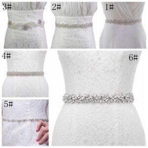 Stunning Ivory Satin Bridal Belt With crystals /&  Pearls UK Seller