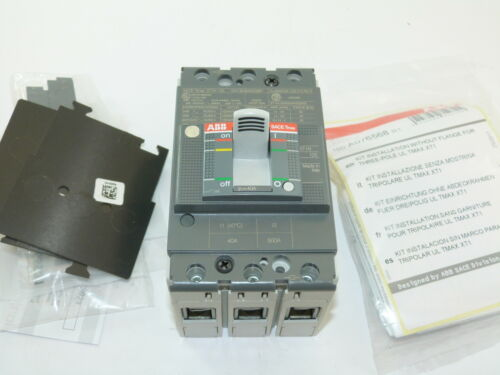 ABB Sace Tmax XT1N 125 3p 40a 600v Circuit Breaker NEW 1yr Warranty