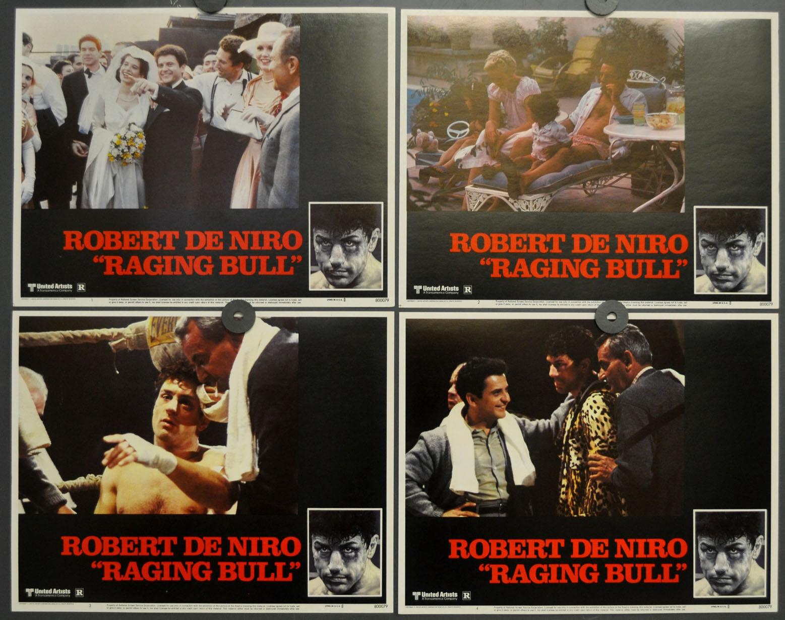 Raging Bull 1980 Orig 11X14 Mint Lobby Karte Set Robert De Niro Joe Pesci