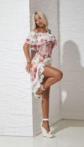 Alina Di Longshirt donna Camicetta Carmen da T Xs Tunica shirt m Fiori Camicetta FOAqUT