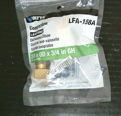 foto de Watts LFA-158A Brass Fitting Dishwasher Elbow, FREE SHIPPING ...