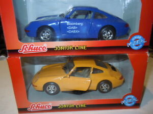 2 Rare Porsche 911 (993) Carrera 2 Modèles De Schuco Dans 1:24 Nouveau Neuf Dans Sa Boîte-afficher Le Titre D'origine