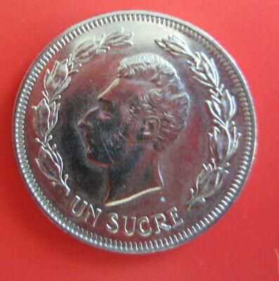 Republica Del Ecuador 1986 Foreign World Coin Un Sucre Money High Grade
