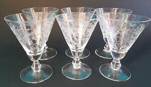 CompéTent Six Verres En Cristal De BohÈme Hauteur 9,5 Cm Ref 302889805285